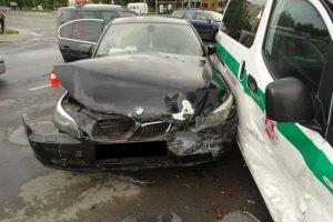 Į iškvietimą vykę patruliai Alytuje pateko į avariją