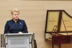 Prezidentė: mokslo centrai – perspektyva Lietuvai tapti inovacijų šalimi
