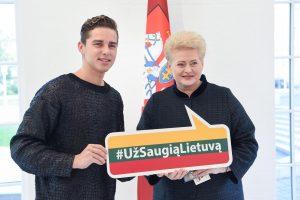 """Prezidentės kampanijos """"Už saugią Lietuvą"""" ambasadoriumi tapo D. Montvydas"""