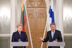 D. Grybauskaitė: Suomija susiduria su tokiomis pat grėsmėmis kaip Lietuva