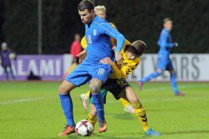 Lietuvos jaunimo futbolo rinktinė sužaidė lygiosiomis su galingais italais