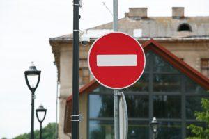Dėl renginių – eismo apribojimai
