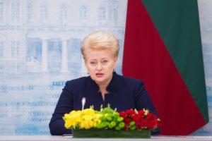 """D. Grybauskaitė: """"Rail Balticai"""" daugiausia problemų kuria Lietuva"""