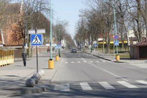 Palangos pagrindinėje gatvėje – vienpusis eismas