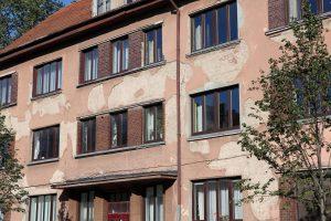 Atsivėrė kraupūs Klaipėdos senamiesčio fasadai