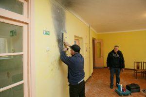 Kulautuvos ligoninėje gaisrą užgesino pacientai