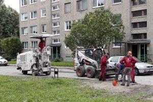 Klaipėdos kiemuose mažėja duobių