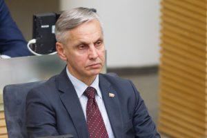 Seimo narys P. Urbšys pateko į avariją