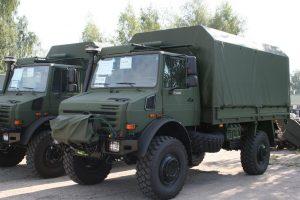 Lietuvos kariuomenę pasieks pirmieji nauji vokiški sunkvežimiai
