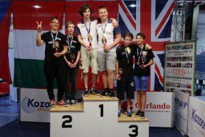 Lietuvos jaunių rinktinė pasaulio stalo futbolo čempionate iškovojo auksą