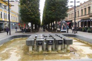 Kaunas su fontanais atsisveikino iki pavasario