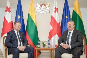 S. Skvernelis Gruzijai žada paramą siekiant narystės ES ir NATO