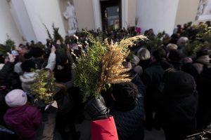 Visas katalikiškas pasaulis mini Verbų sekmadienį