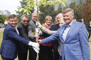 Esamas ir buvę Seimo pirmininkai pasodino šimtmečio ąžuoliuką