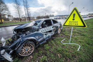 Saugaus eismo diena Kaune: automobilių duženos virto paminklais