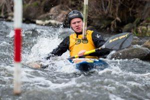 S. Mažeikis iškovojo Lietuvos baidarių ir kanojų slalomo pirmenybių bronzą