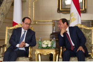 Prancūzijos vadovas Egipte pasirašė kelias ekonomines sutartis