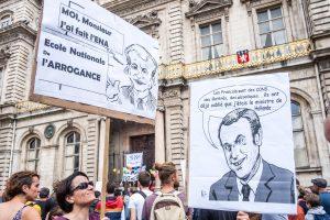 Ne visi prancūzai patenkinti jaunojo prezidento politika