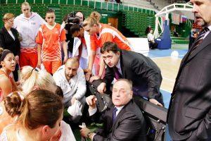 A. Sabonis susitiko su moterų krepšinio rinktinės treneriu A. Paulausku