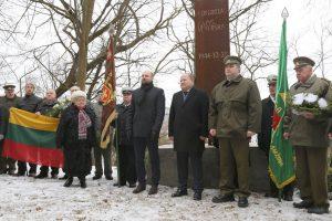 Prie generolo paminklo paminėtos laisvės armijos įkūrimo metinės