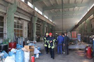 Įmonės patalpose įsiplieskė gaisras