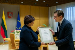 Seimo pirmininkei – žurnalistų padėka už žodžio laisvės gynimą