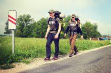 Pėsčiomis iš Klaipėdos į Vilnių liko keliauti tik vienas savanoris