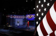 H. Clinton ir D. Trumpas susirėmė savo pirmuose ugninguose debatuose