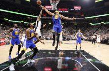 "NBA Vakarų konferencijos finale ""Warriors"" pranoko ""Spurs"""