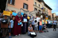 Ispanijos musulmonai surengė protesto akciją prieš terorizmą