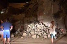 Italijoje per 4 balų žemės drebėjimą žuvo moteris