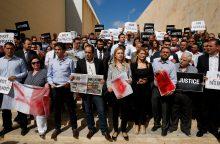 Kolegės žūties sukrėsti Maltos žurnalistai surengė mitingą