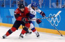 Kanados ir Švedijos ledo ritulininkai – olimpinių žaidynių ketvirtfinalyje