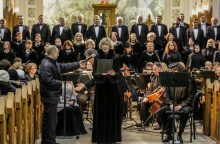 Sausio 13-osios proga bažnyčią užliejo galinga J. Brahmso muzika