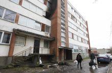 Per gaisrą bendrabutyje žuvo žmogus