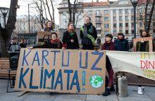 Protestai dėl klimato kaitos atsirito į Lietuvą