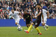 """Anglijos futbolo čempionato turas prasidėjo """"Manchester City"""" pergale"""