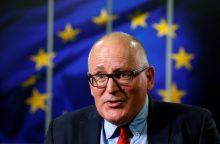Europos socialistai pasirinko F. Timmermansą kandidatu į EK pirmininko postą