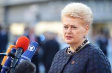 """D. Grybauskaitė ragina išvengti nekontroliuojamų """"Brexit"""" skyrybų"""