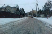 Dėl žiemiškų eismo sąlygų – avaringas rytas Vilniaus užmiestyje