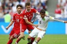Meksikiečiai sužlugdė rusų viltis patekti į pusfinalį