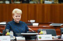 Prezidentė: ES standartai turi būti taikomi visiems išorės energijos tiekėjams