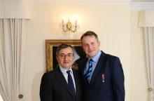 Valdovų rūmų muziejaus direktoriui – Italijos Žvaigždės ordinas