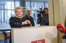 Prezidentė: balsavau už dirbantį ir nevagiantį kandidatą