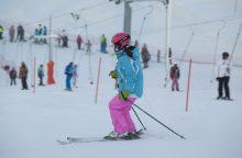 Žiemos pramogų mėgėjai užgulė slidinėjimo trasas