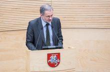 L. Balsys jungiasi prie Socialdemokratų frakcijos Seime