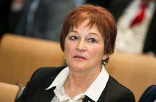 Į Seimą neperrinkta B. Vėsaitė neranda darbo