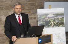 Pristatė nacionalinio stadiono viziją – su biblioteka, muziejumi, baseinu