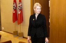 Siūloma atleisti L. Matjošaitytę iš VRK pirmininkės pareigų