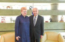 D. Grybauskaitė vyks į Izraelio prezidento Sh. Pereso laidotuves